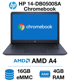 HP Chromebook 14-DB0500SA AMD A4 | 4GB RAM | 16GB eMMC (Open Box)