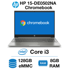 HP Chromebook 15-DE0502NA Core i3 | 8GB RAM | 128GB eMMC (Open Box)