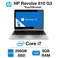 HP Elitebook Revolve 810 G3 TouchScreen Core i7 | 8GB RAM | 256GB SSD