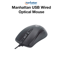 Manhattan USB Wired Optical Mouse