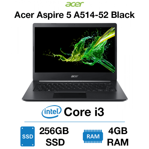 Acer Aspire 5 A514-52 Core i3   4GB   256GB SSD   Windows 10 Home (Open Box) Black