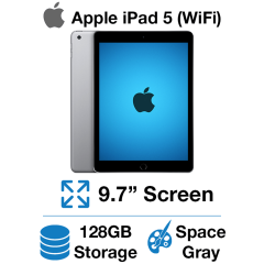 Apple iPad 5th Gen (WIFI) 128GB Space Gray