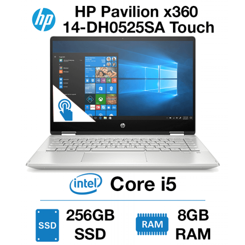 HP Pavilion x360 14-DH0525SA Touch Core i5   8GB RAM   256GB SSD   Windows 10 Home (Open Box)