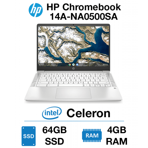 HP Chromebook 14A-NA0500SA Celeron | 4GB RAM | 64GB eMMC (Open Box)