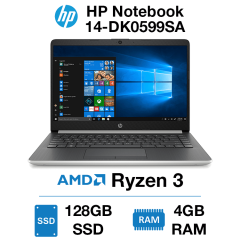 HP Notebook 14-DK0599SA Ryzen 3 | 4GB RAM | 128GB SSD | Windows 10 S (Open Box)
