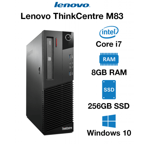 Lenovo ThinkCentre M83 Core i7   8GB RAM   256GB SSD   DVD