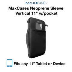 "MaxCases Neoprene Sleeve Vertical 11"" w/pocket"
