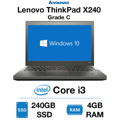 Lenovo ThinkPad x240 Core i3 | 4GB RAM | 240GB SSD | Webcam Grade C (WiFi Broken - Dongle Included)