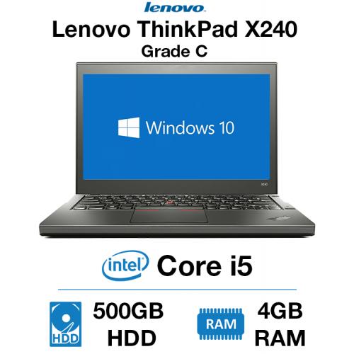 Lenovo ThinkPad x240 Core i5 | 4GB RAM | 500GB HDD | Webcam Grade C (WiFi Broken - Dongle Included)