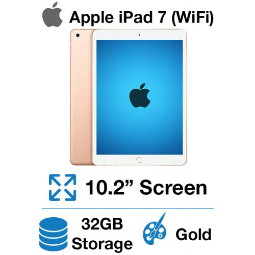 Apple iPad 7th Gen (WiFi) 32GB Gold (Open Box)
