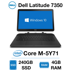 Dell Latitude 7350 Touch Core M-5Y71 | 4GB RAM | 240GB SSD | Webcam