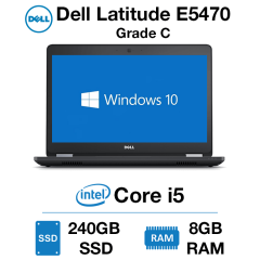Dell Latitude E5470 Core i5 | 8GB RAM | 240GB SSD Grade C (Minor Case Damage)
