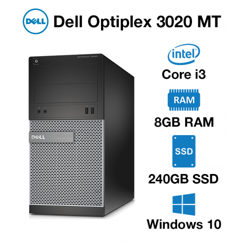Dell Optiplex 3020 MT Core i3 | 8GB | 240GB SSD