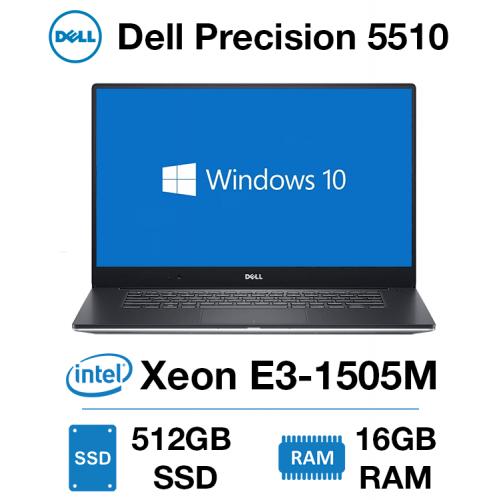 Dell Precision 5510 Workstation Xeon E3-1505M | 16GB RAM | 512GB SSD | NVIDIA Quadro M1000M 2GB | Windows 10 Pro