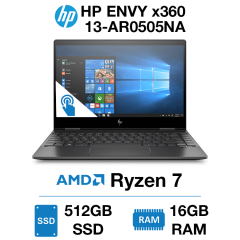 HP ENVY x360 13-AR0505NA Touch Ryzen 7 | 16GB RAM | 512GB SSD | Windows 10 Home (Open Box)