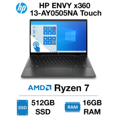 HP ENVY x360 13-AY0505NA Touch Ryzen 7 | 16GB RAM | 512GB SSD | Windows 10 Home (Open Box)