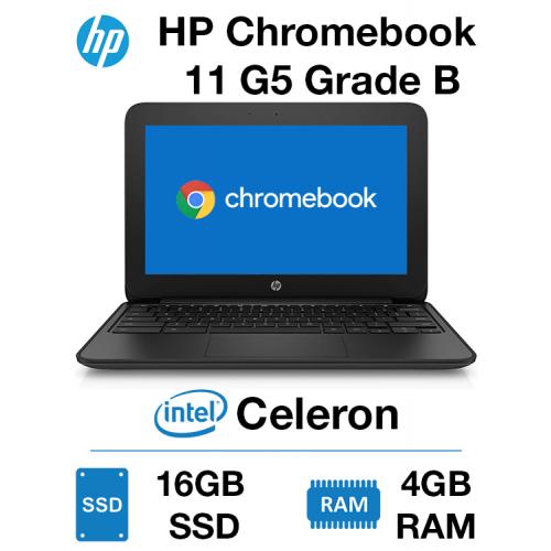 HP Chromebook 11 G5 EE Celeron | 4GB | 16GB SSD Grade B (Cosmetic Damage)