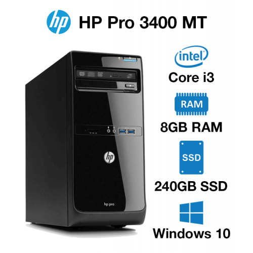 HP Pro 3400 MT Core i3 | 8GB | 240GB SSD