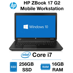 HP ZBook 17 G2 Core i7 | 16GB | 256GB SSD | NVIDIA Quadro K3100M 4GB | Windows 10 Pro