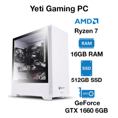 Yeti Gaming PC Ryzen 7 | 16GB | 512GB SSD | Geforce GTX 1660 6GB | Windows 10 Pro