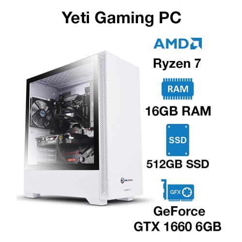 Yeti Gaming PC Ryzen 7 | 16GB | 512GB SSD | Geforce GTX 1660 6GB | Windows 10 Pro