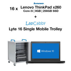 16x Lenovo ThinkPad x260 Core i5 | 8GB RAM | 256GB SSD & Lyte 16 Single Trolley Bundle