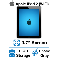 Apple iPad 2 (WiFi) 16GB Space Gray