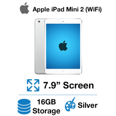 Apple iPad Mini 2 (WIFI) 16GB Silver