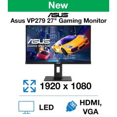 "Asus VP279QGL 27"" Gaming Monitor (New)"