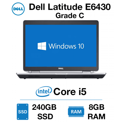Dell Latitude E6430 Core i5 | 8GB | 240GB SSD Grade C - 0142