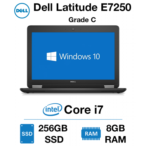 Dell Latitude E7250 Core i7 | 8GB RAM | 256GB SSD Grade C - 0148