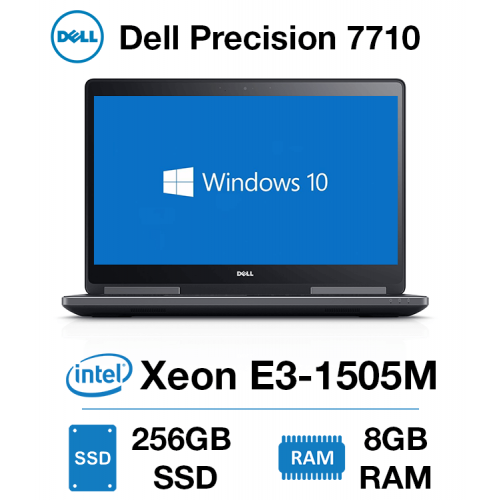 Dell Precision 7710 Workstation Xeon E3-1505M | 8GB | 256GB SSD | NVIDIA Quadro M4000M 4GB | Windows 10 Pro