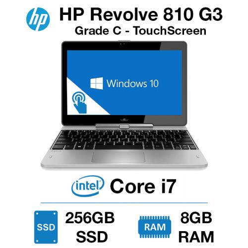 HP Elitebook Revolve 810 G3 TouchScreen Core i7 | 8GB RAM | 256GB SSD Grade C - 0143