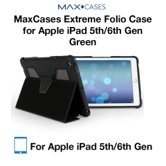 MaxCases Extreme Folio Case for iPad 5th Gen/6th Gen Green
