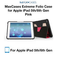 MaxCases Extreme Folio Case for iPad 5th Gen/6th Gen Light Pink
