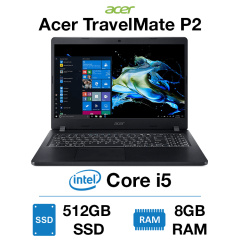 Acer TravelMate P2 Core i5 | 8GB RAM | 512GB SSD | Webcam | Windows 10 Pro (Open Box)