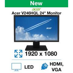 "Acer V246HQL 24"" Monitor(New)"