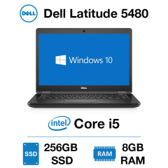 Dell Latitude 5480 Core i5 | 8GB RAM | 256GB SSD | Windows 10 Pro | Webcam
