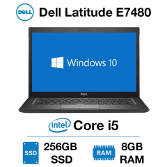 Dell Latitude E7480 Core i5 | 8GB RAM | 256GB SSD | Windows 10 Pro | Webcam