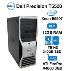 Dell Precision T5500 Workstation Xeon E5507 | 12GB | 1TB HDD/240GB SSD | ATI FirePro V4800 3GB Graphics