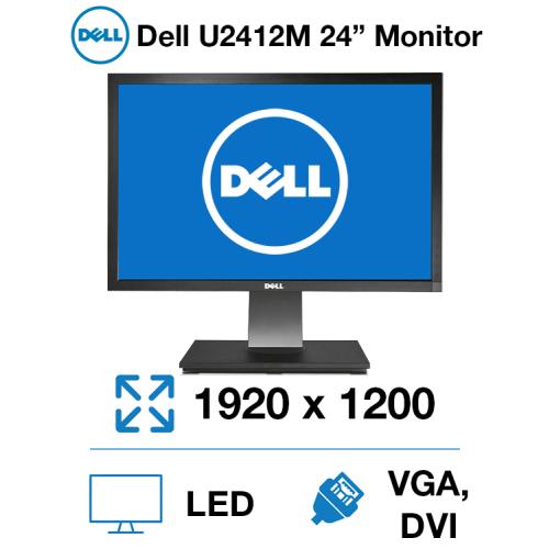 """Dell U2412M 24"""" Monitor"""