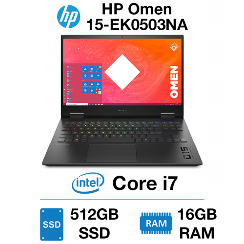 HP Omen 15-EK0503NA Core i7 | 16GB | 512GB SSD | RTX 2060 6GB | Webcam | Windows 10 Home (Open Box)