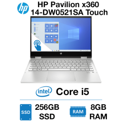 HP Pavilion x360 14-DW0521SA Touch Core i5 | 8GB | 256GB SSD |Webcam | Windows 10 Home (Open Box)