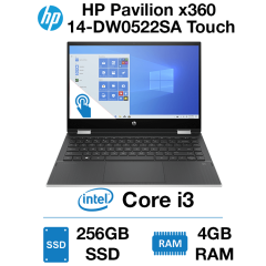 HP Pavilion x360 14-DW0522SA Touch Core i3 | 4GB | 256GB SSD | Webcam | Windows 10 Home (Open Box)