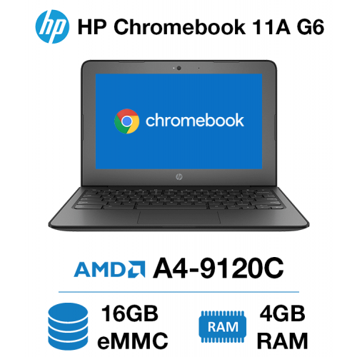 HP Chromebook 11A G6 AMD A4 | 4GB | 16GB eMMC