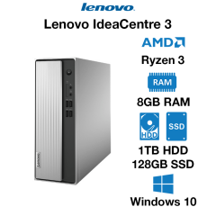 Lenovo IdeaCentre 3 Ryzen 5 | 8GB | 1TB HDD/128GB SSD | Windows 10 Home (Open Box)