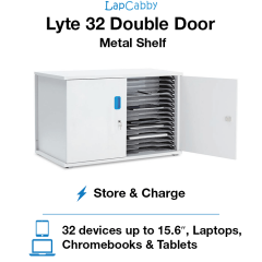 Lyte 32 Double Door Metal Shelf