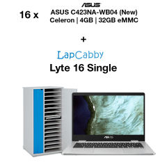 16x ASUS C423NA-WB04 Chromebook Celeron | 4GB | 32GB eMMC & Lyte 16 Single