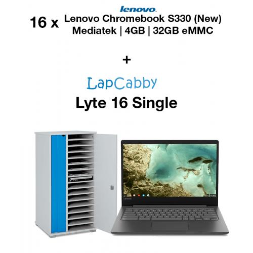 16x Lenovo Chromebook S330 Mediatek MT8173C | 4GB | 32GB eMMC(New) & Lyte 16 Single