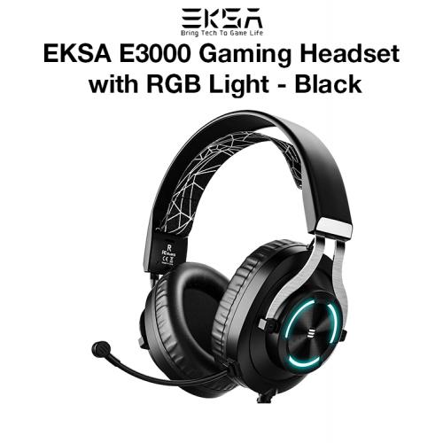 EKSA E3000 Gaming Headset with RGB Light - Black